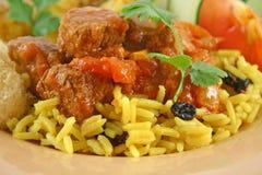 Curry Vindaloo de la carne de vaca Fotos de archivo libres de regalías
