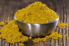 Curry w małym pucharze Zdjęcia Stock