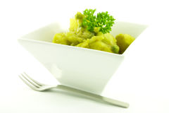 Curry in a White Bowl Stock Photo