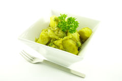 Curry in a White Bowl Royalty Free Stock Images