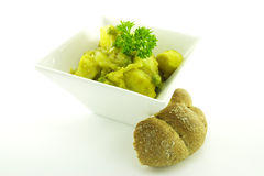 Curry in a White Bowl Royalty Free Stock Image