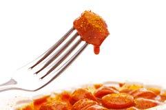 Curry-Wurst Stockfoto