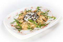 Currych ryż z kurczakiem Fotografia Royalty Free