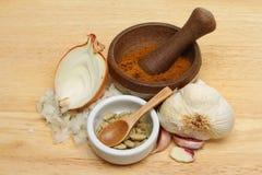 Currych składniki zdjęcie royalty free