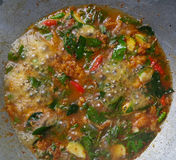 Curryfischrogen würzig Lizenzfreies Stockfoto