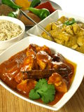Curryhöna - indisk mat. Fotografering för Bildbyråer