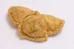 Curryhauchisolat auf weißem Hintergrund Stockfoto