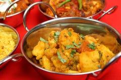 curryindiergrönsak arkivfoton