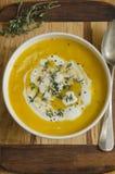 Currykryddad soppasoppa Royaltyfria Bilder