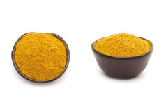 Currykryddor i en lerabunke Royaltyfria Bilder