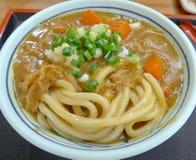 Currynudelcloseup Royaltyfria Bilder