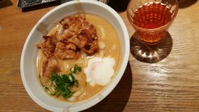 Currynudeln är den berömda japanska maten royaltyfria bilder