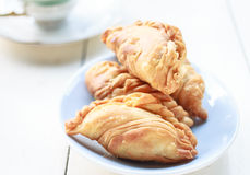 Currypuff Arkivfoton