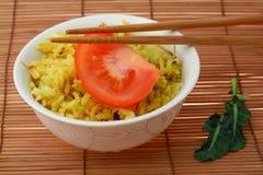 Curryreis lizenzfreie stockfotografie