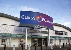 Currys και κόσμος PC Στοκ φωτογραφία με δικαίωμα ελεύθερης χρήσης