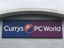 Currys PC World store stock image