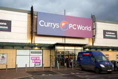 Currys. LONDON - FEBRUARY 2ND: The exterior of Currys on february the 2nd, 2015, in London, England, UK. Currys is a leading electrical retailer Stock Photos