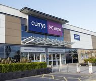 Currys and PC World. Swansea, UK: December 28, 2016: Currys and PC World Store incorporating a Carphone Warehouse. Building exterior of a computer hardware store Stock Photo