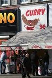 Currywurst小吃店,柏林,德国 库存照片