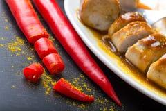 Currywurst épicé chaud Image libre de droits