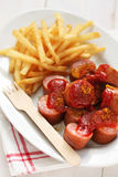 Currywurst, curry sausage Royalty Free Stock Images