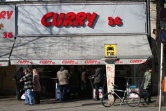 Currywurst snack bar, berlin, germany stock image