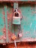 Cursed. Outdoor photography cursed object old lock Royalty Free Stock Photography