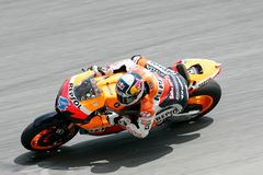 Curseur Andrea Dovizioso d'équipe de Repsol Honda Photo libre de droits