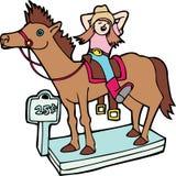 Curseur de cheval d'épicerie - aucun fond illustration de vecteur