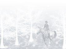 Curseur de cheval de neige de l'hiver Image libre de droits