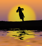 Curseur de coucher du soleil Images stock