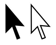 curseur de flèches Photo stock