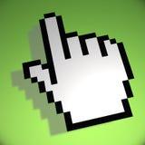 Curseur de main de souris sur le fond vert illustration libre de droits