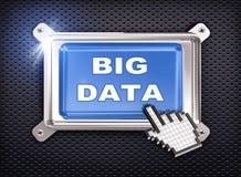 curseur de main du bouton 3d - grandes données Photo stock
