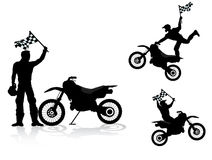Curseur de motocross illustration stock