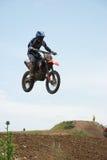 Curseur de motocross Photos stock
