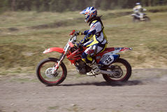 Curseur de motocross Photos stock