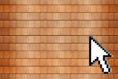 Curseur en bois de fond et de souris Image stock