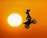 Curseur extrême de motocross Photographie stock libre de droits