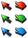 Curseurs colorés. Photo stock