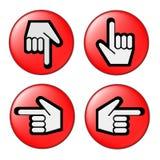 Curseurs - mains Photographie stock libre de droits