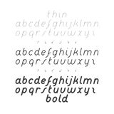 Cursive Small Case Font Stock Images