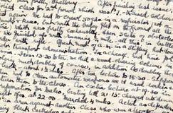 Cursivo del diario del tiempo de guerra fotos de archivo libres de regalías
