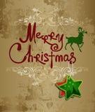 Cursivo. Feliz Navidad. Imágenes de archivo libres de regalías