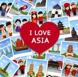 Curso a Ásia ilustração royalty free