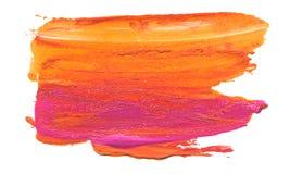 Curso acrílico abstrato da escova da cor Isolado imagens de stock royalty free