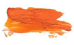 Curso acrílico abstrato da escova da cor Isolado fotos de stock