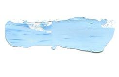 Curso acrílico abstrato da escova da cor Isolado fotos de stock royalty free