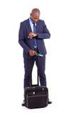 Curso africano do homem de negócios Fotos de Stock
