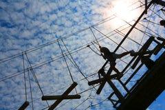 Curso alto do desafio das cordas foto de stock royalty free